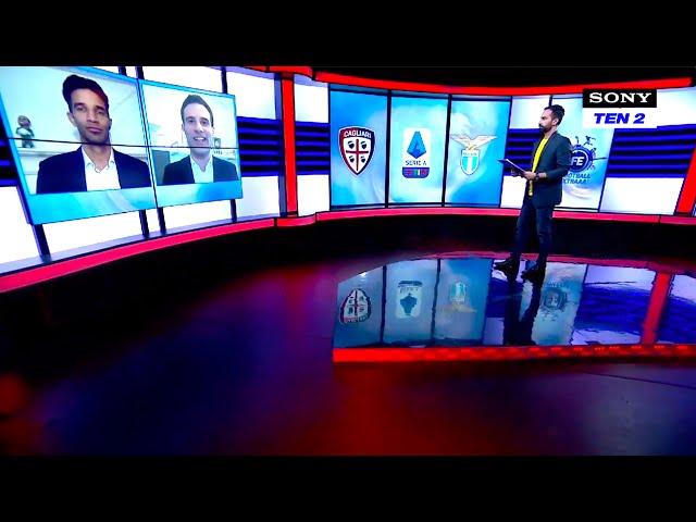 Adriano on Sony Sports India (Serie A Studio)