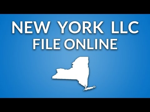 New York LLC - Formation Documents (online Filing)