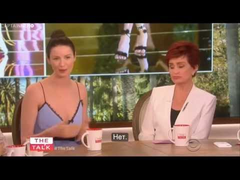 Caitriona Balfe - Interview on The Talk TV Show (June 8, 2016) [RUS SUB]