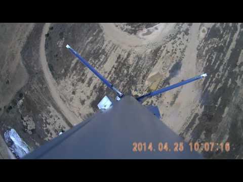 Model rocket vertical landing - Attempt 2 (Onboard CAM) - June 10th, 2017