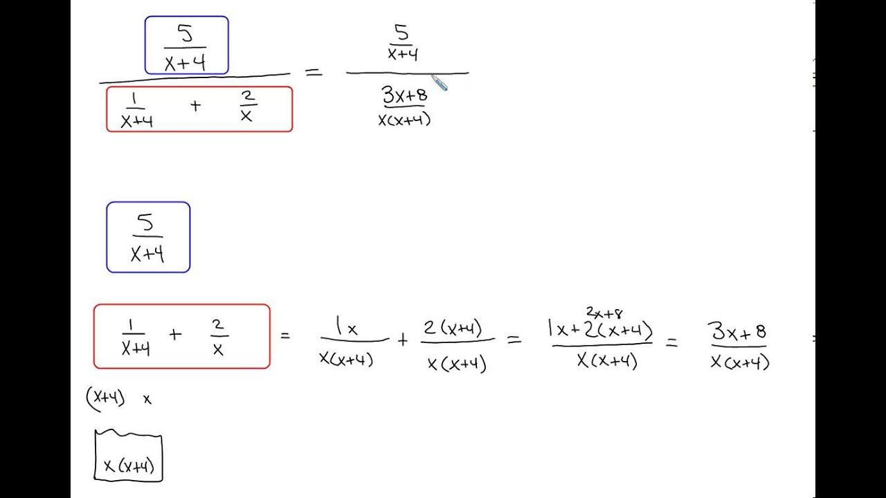 (852) Simplifyingplex Fractions Algebra 2