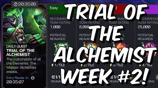 Trial Of The Alchemist FINAL DAY CHALLENGE - Week #2 - Marvel Contest Of Champions