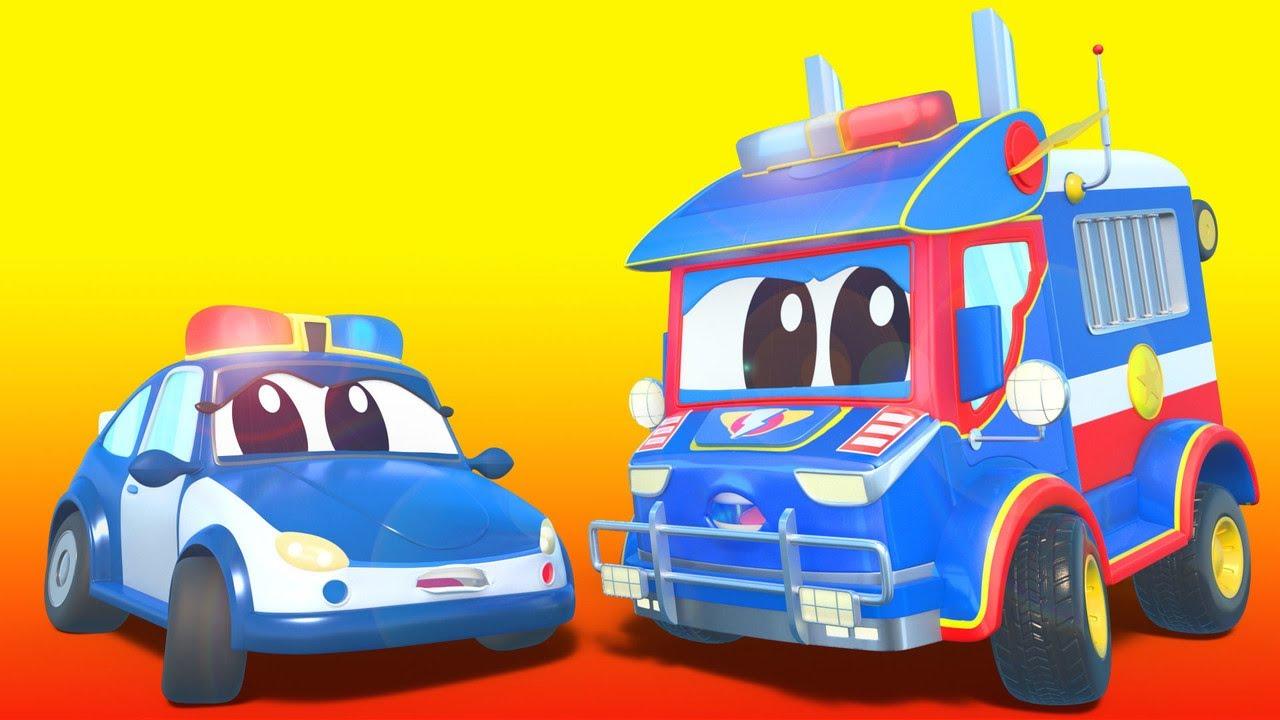 O CARRO DE POLÍCIA se torna Prefeito da Cidade! - Cidade do Carro - Desenhos animados infantis