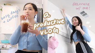 a productive vlog: getting my life together in the new home, room decorating