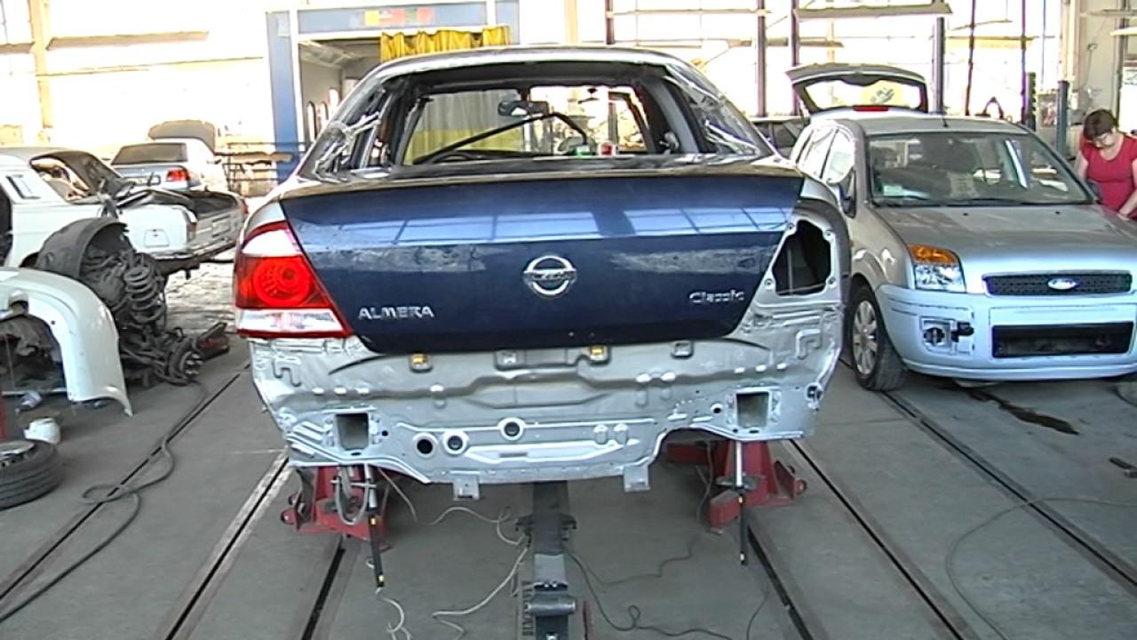 Кузовной центр 911. Восстановление кузова Nissan Almera 2 я часть.