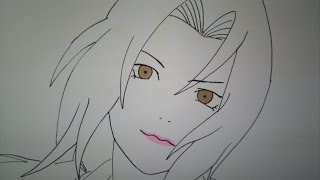 How to draw Tsunade.綱手の描き方.