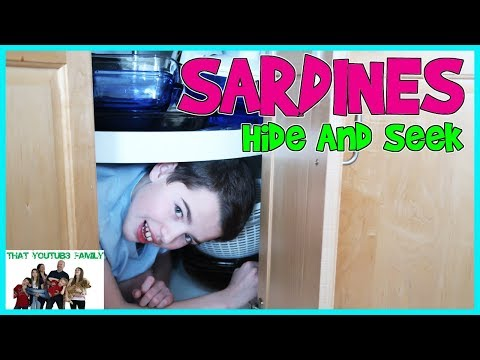 SARDiNES Hide and Seek In OUR Home! (NEW) / That YouTub3 Family Family Channel