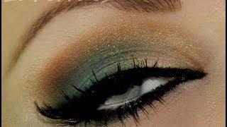 Maquiagem usando sombra verde esmeralda, com Lu Ferraes