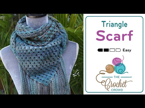 How To Crochet A Scarf Triangle Scarf Youtube