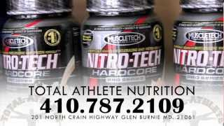 Total athlete nutrition store  GLEN BURNIE MARYLAND(Total Athlete Nutrition is a sports supplement, vitamins & minerals, discount shop. We can help you achieve all of your fitness and or sports goals. we beat any ..., 2012-07-25T20:58:07.000Z)