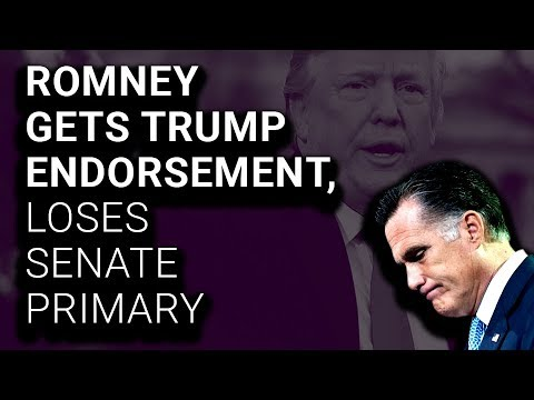 Trump-Endorsed Mitt Romney Fails to Secure Senate Nomination