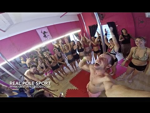 pole sport workshop in Buenos Aires Kristian.L