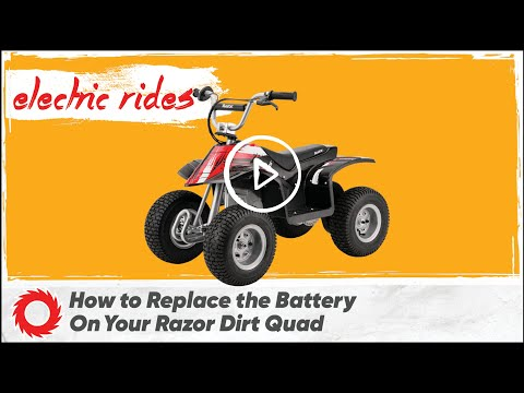 How to Replace the Batteries on the Razor Dirt Quad