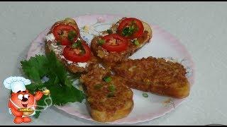 Горячие бутерброды с колбасой и сыром-простой рецепт завтрака