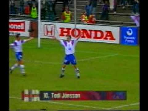Faroes - Spain 2-6. 1998 World cup qualifiers. Two great goals against Zubizarreta