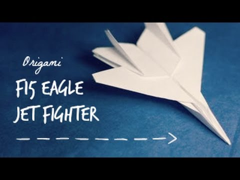 Download How to make an F15 Paper Plane 折り紙 ジェット