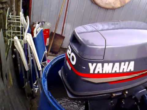Yamaha 20 hp outboard motor 2005r 2 stroke dwusuw youtube for 25hp yamaha 2 stroke