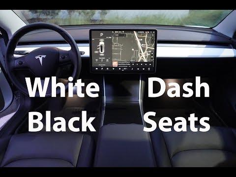 Tesla Model 3 Dashboard Swap (Black Seats + White Dash)