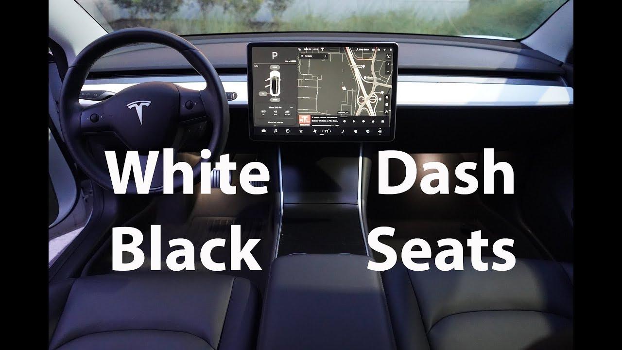 Tesla Model 3 Dashboard Swap Black Seats White Dash