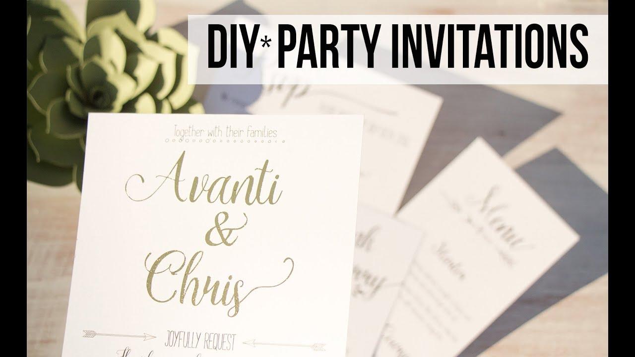 DIY Wedding Invitations Invitaciones de Bodas Collab with Deco