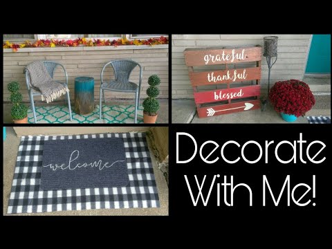 Repeat Fall Porch Decorate With Me • farmhouse inspired