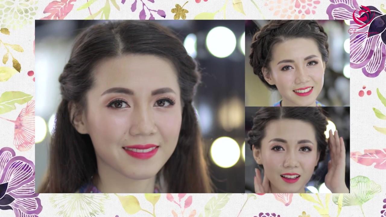 3 kiểu tóc tết siêu xinh để diện cùng áo dài | Beautiful waterfall hairstyle  | Kiểu tóc tết đẹp