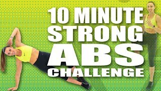 10 MINUTE STRONG ABS CHALLENGE! with Sydney Cummings