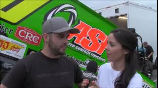 The World of Outlaws' Natalie Sather Interviews Ryan Taylor at Williams Grove