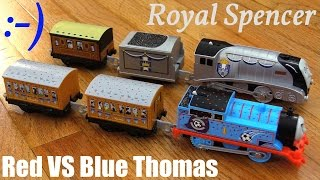 Toy Trains for Kids: New Trackmaster Royal Spencer and Red VS Blue Thomas Unboxing & Playtime