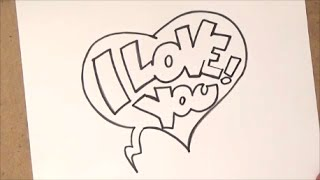 how to draw i love you   how to draw i love you step by step