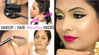 7 TIME Saving WEDDING Makeup & Hair HACKS | #GRWM #Haircare #Tips #Anaysa #ShrutiArjunAnand