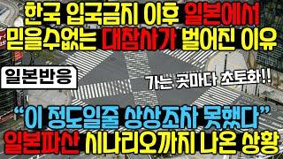한국인을 막은 결과 제대로 역관광 당해버린 일본상황[일…
