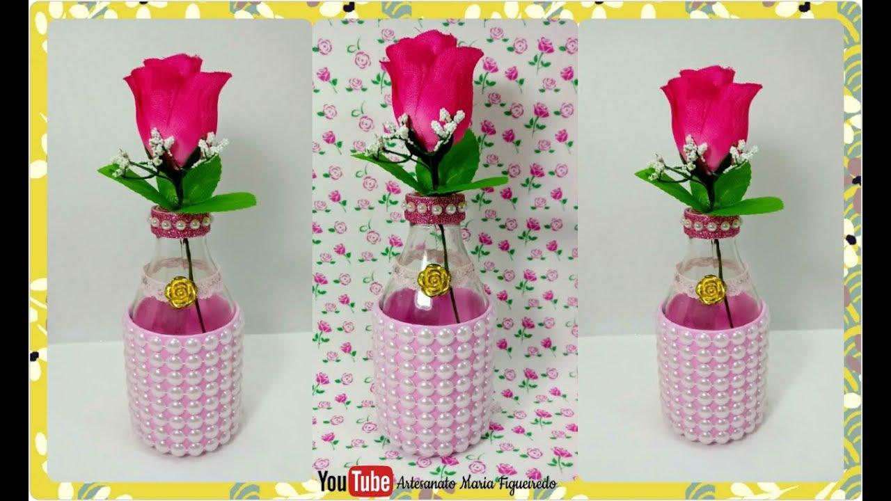 Armario Pequeno Para Banheiro ~ Garrafa decorada com pérolas Para decoraç u00e3o da casa ou
