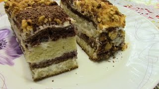 """Торт """" Сметанник """".Домашний простой рецепт торта без масла."""