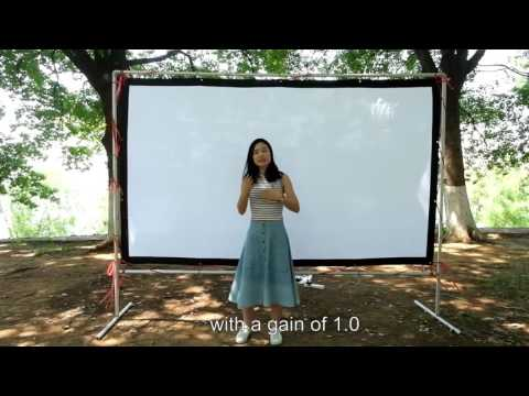 NIERBO three kinds of projection screen compare. Canvas screen ,rear screen and silver screen