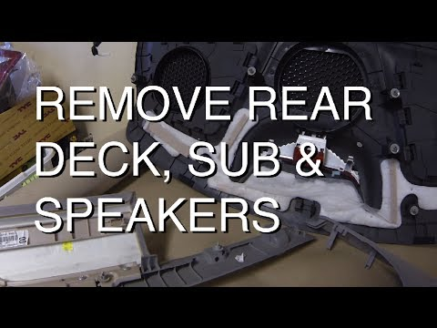 Diy How To Remove Rear Deck Sub Amp Speakers Youtube