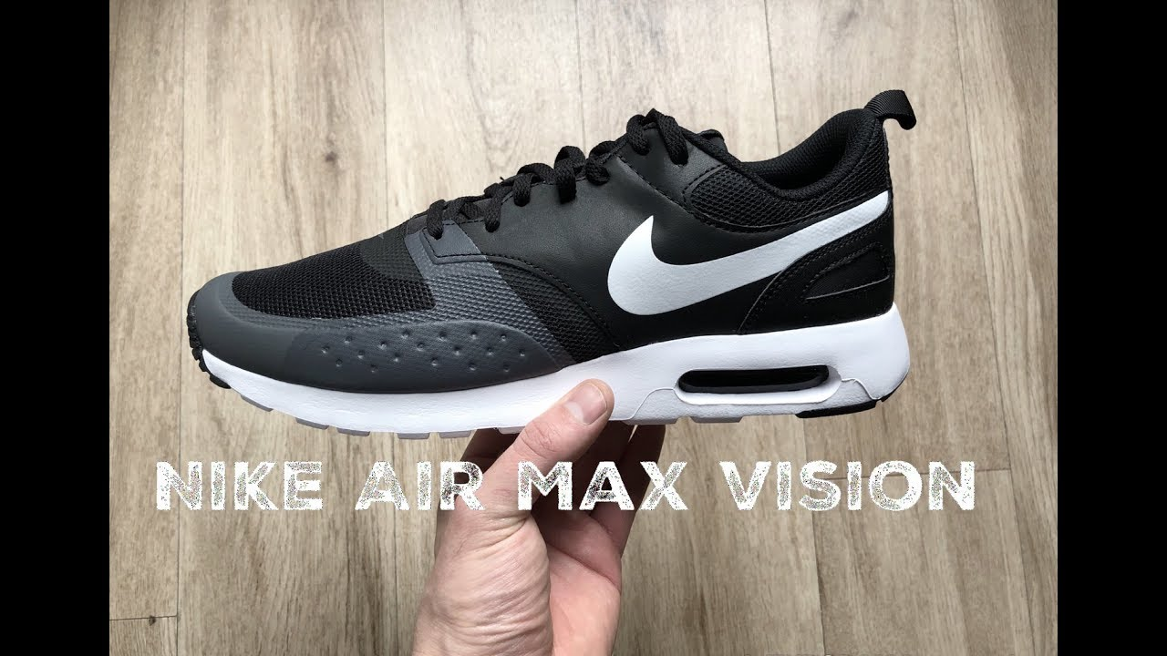 info for 23c06 15d0f Nike Air Max Vision ˋblack white-dark grey´   UNBOXING   ON FEET   fashion  shoes l 2017 l HD