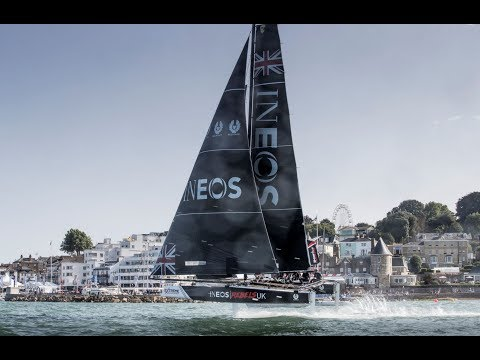 The Royal Yacht Squadron Cowes Week fly-by