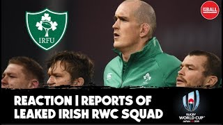LIVE | Rugby Reaction: Leaked Irish Rugby World Cup squad | Toner to miss out? | #RWC2019
