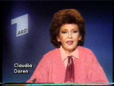 ARD Programmansage Claudia Doren 1985