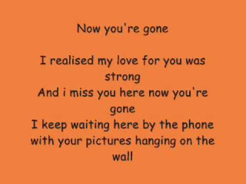 Miss You When You Re Gone Lyrics