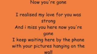 Basshunter- Now You're Gone + Lyrics