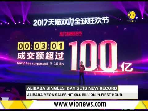 Alibaba singles' day sets news record