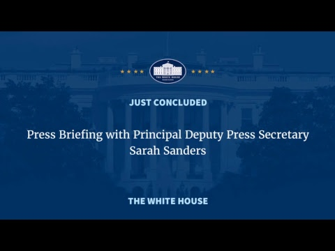 UNLISTED LIVE: White House deputy press secretary gives briefing after Sean Spicer quits