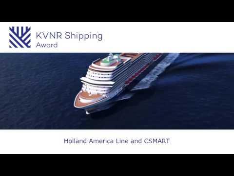 KVNR Shipping Award 2016 - Winnaar Holland America Line en CSMART