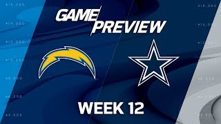 Los Angeles Chargers vs. Dallas Cowboys | NFL Week 12 Game Preview | NFL Playbook