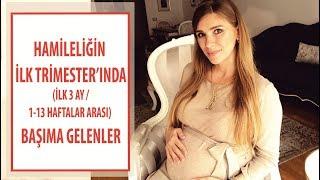 Hamilelikte ilk 3 ay   İlk trimester   1-13.  hafta