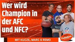 Wer wird Champion in der AFC und NFC? | Footballerei SHOW