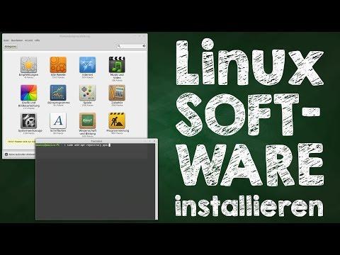 Linux Programme installieren, Mint + Ubuntu, über Software Center + Terminal, Anleitung auf Deutsch