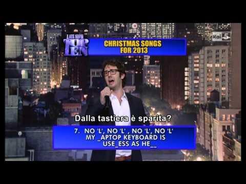 Letterman - Josh Groban Top 10 Christmas Songs - 11 12 2013 - Sub Ita (Rai5)